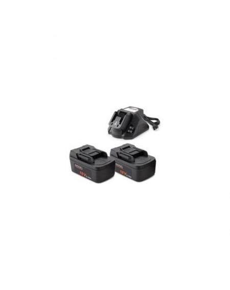 2 baterías de 18 V + cargador